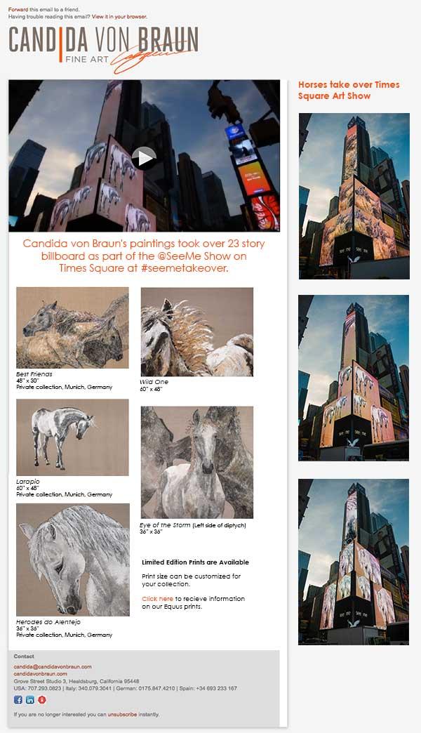 Candida von Braun Times Square Art Show