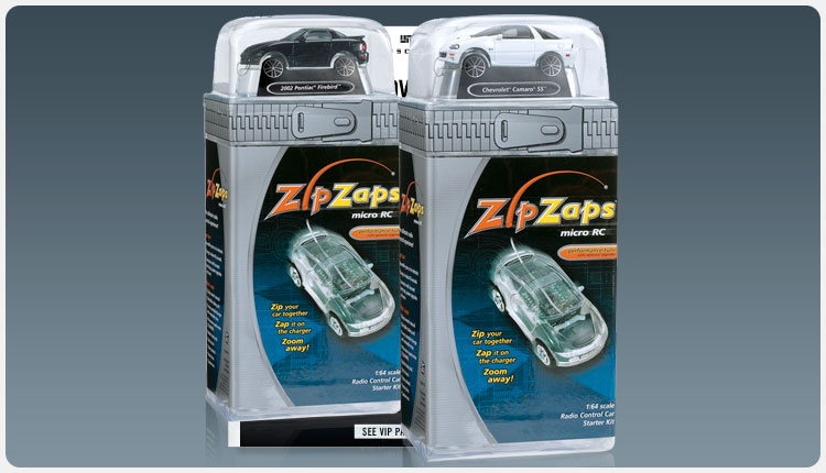 RadioShack ZipZaps  Micro RC Starter Kit Packaging
