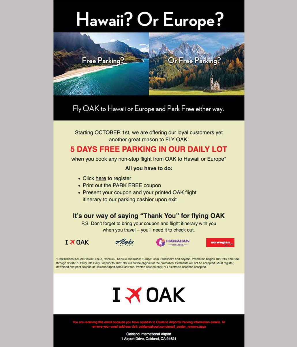 Oakland International Airport Free Parking