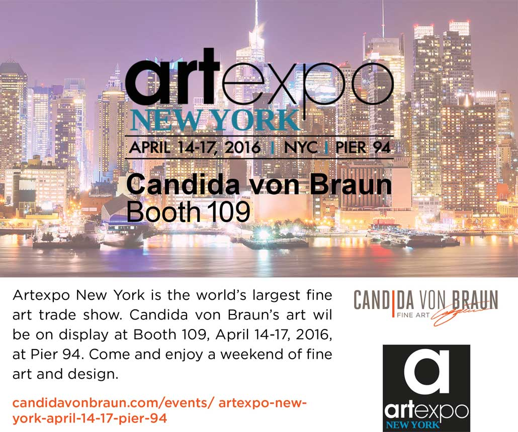 Candida von Braun Artexpo New York Facebook Post