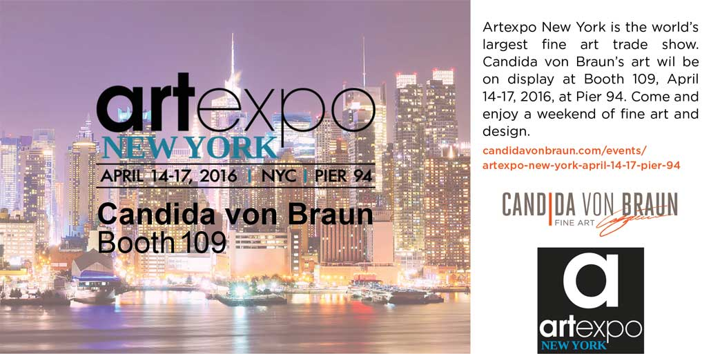 Candida von Braun Artexpo New York Twitter Post