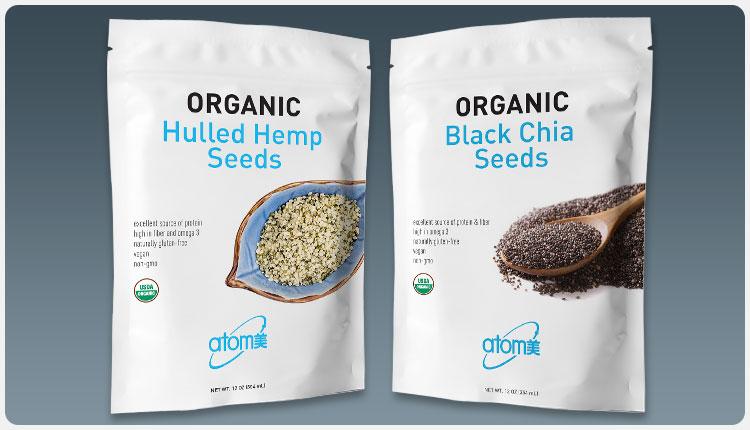 Atomy Hemp & Chia Seed Packaging
