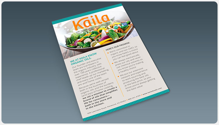 Kaila All-Perfect & Pantry Basics Sell Sheet