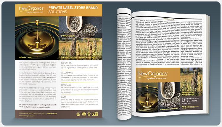 New Organics Sell Sheet
