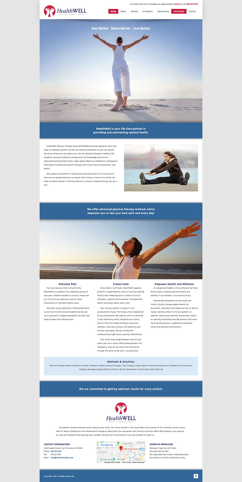 HealthWell Home Page