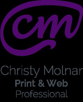 Christy Molnar, Print & Web Professional Logo