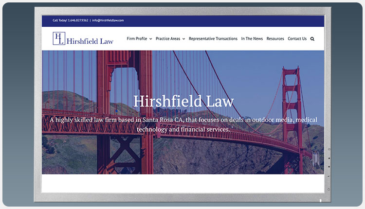 Hirshfield Law Website