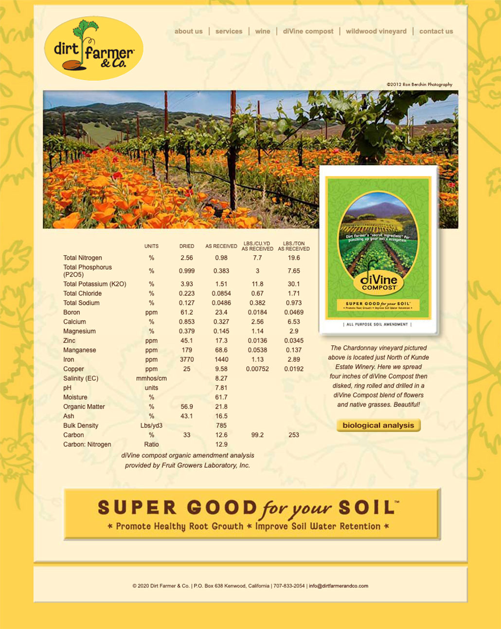Dirt Farmers & Co. Soil Nutrient Facts