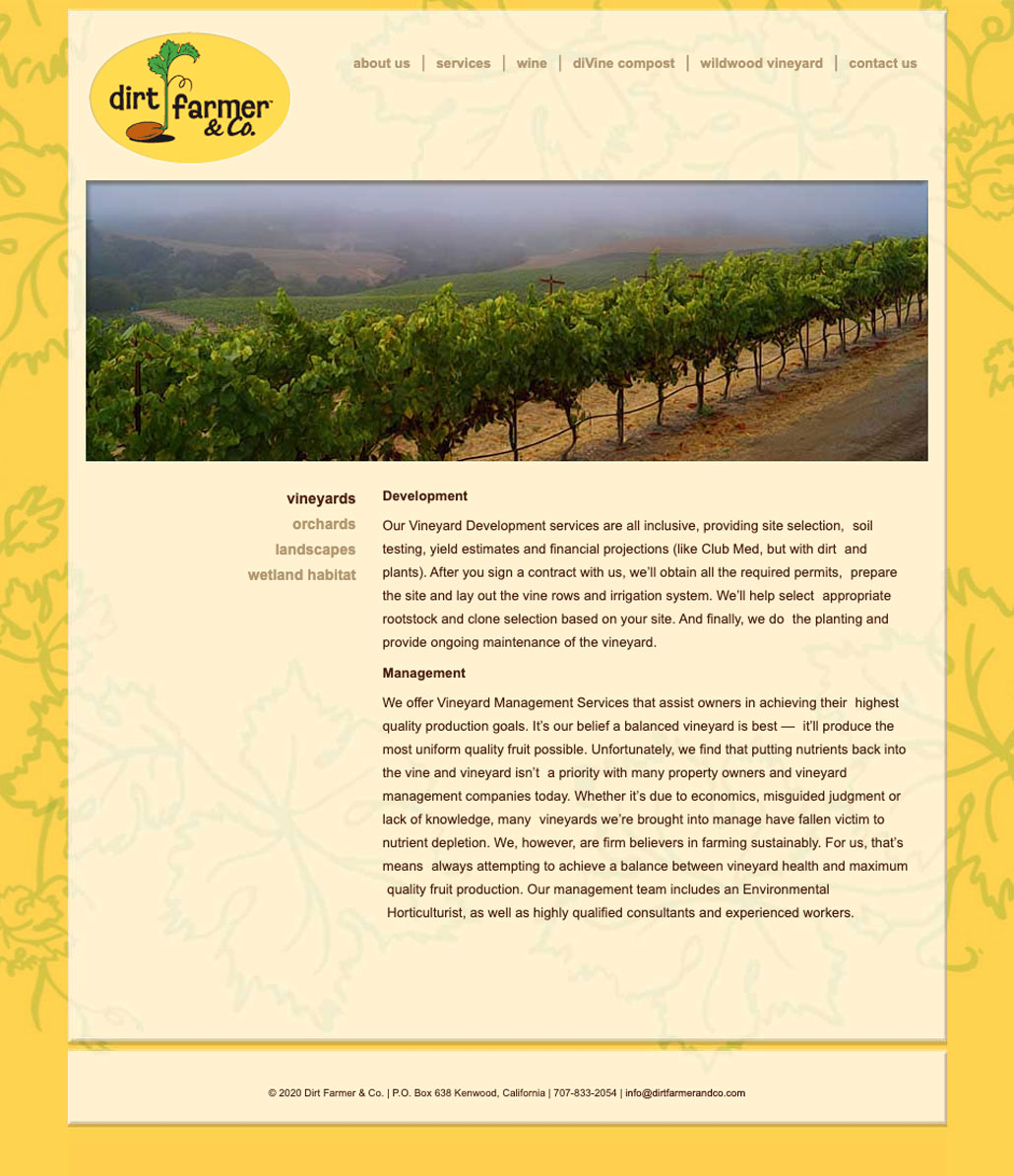 Dirt Farmers & Co. Vineyards Services