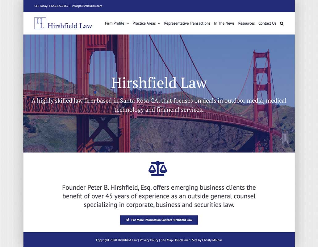Hirshfield Law a highly skilled law firm based in Santa Rosa, CA.