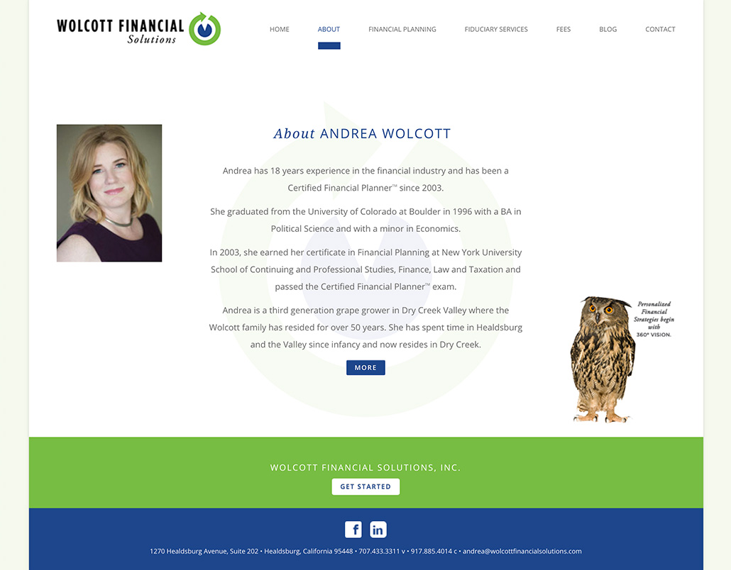 Wolcott Financial Solutions About Page