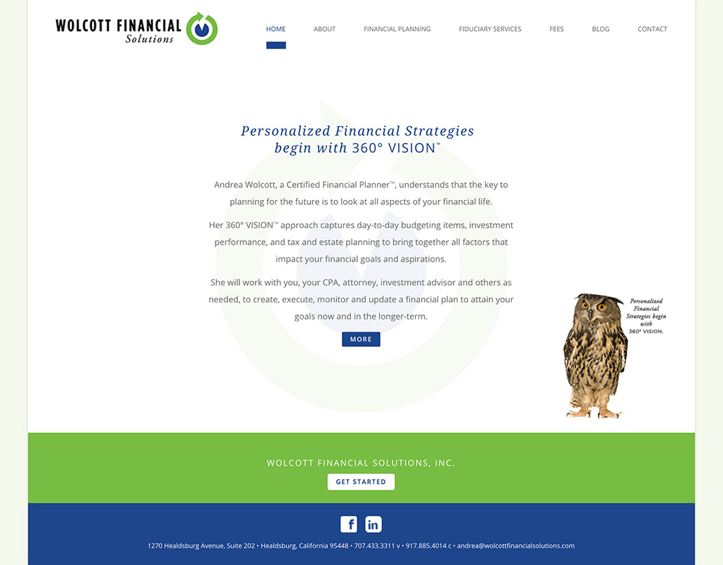 Wolcott Financial Solutions Homepage